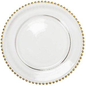 bajo plato moda perlas